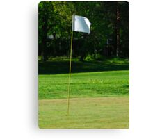 Golf flag Canvas Print