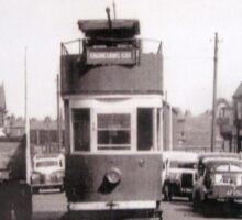 Historic photograph of a BLACKPOOL Tram. Sticker