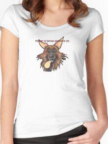 German Shepherds UK Members  Women's Fitted Scoop T-Shirt