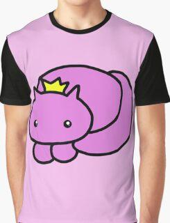 pretty kitty crown print Graphic T-Shirt