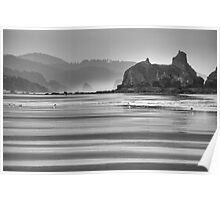 Low Tide at Cannon Beach Poster