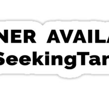 Runner Available Seeking Tanis Sticker