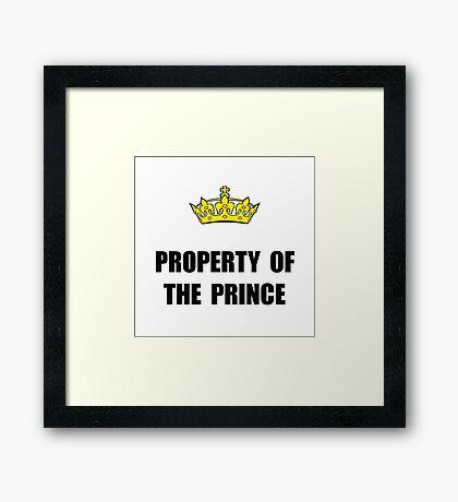 Property Of Prince Framed Print