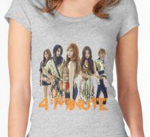 4 MINUTE Women's Fitted Scoop T-Shirt