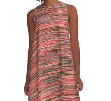salmon camo A-Line Dress