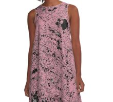 Grunge Pink and Black abstraction 2 A-Line Dress