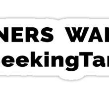 Runners Wanted Seeking Tanis Sticker
