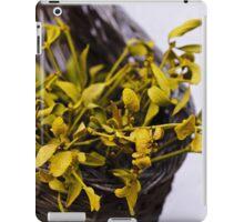 Dried mistletoe in a wooden basket iPad Case/Skin