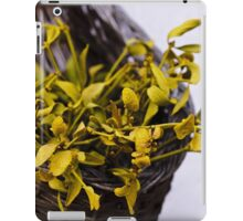 Dried mistletoe in a wooden basket iPad Case/Skin