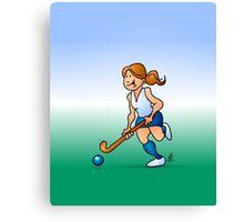 Field hockey girl Canvas Print