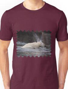 Polar Bear Splashing in the Water Unisex T-Shirt