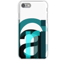 Letters. iPhone Case/Skin