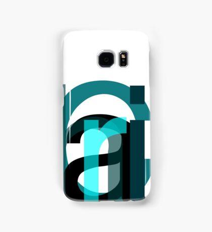 Letters. Samsung Galaxy Case/Skin