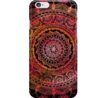 Red and Black Mandala iPhone Case/Skin