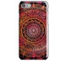 Red and Black Mandala iPhone Case/Skin