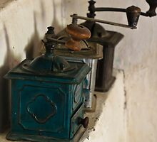Old coffee grinders by Stanciuc