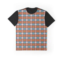 Mosaïque orange & bleue Graphic T-Shirt