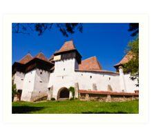 Viscri Fortified Church, Transylvania, UNESCO heritage Art Print