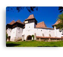 Viscri Fortified Church, Transylvania, UNESCO heritage Canvas Print