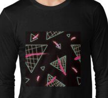 Postmodern Neon 80s Lights No.2 Long Sleeve T-Shirt