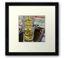 Drink shots Framed Print