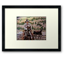 The $12.00 Resistol And Pecos Framed Print