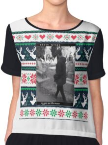 Death  grips Christmas sweater  Chiffon Top
