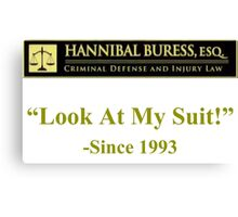 Hannibal Buress Attorney at law  Canvas Print