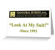 Hannibal Buress Attorney at law  Greeting Card