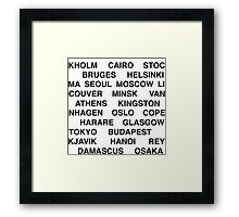 Citytype No.1 - White Framed Print
