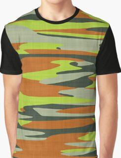 orange yellow camo abstract 6 Graphic T-Shirt
