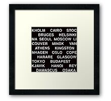Citytype No.1 - Black Framed Print