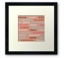 Citytype No.1 - Buff/Multi Framed Print