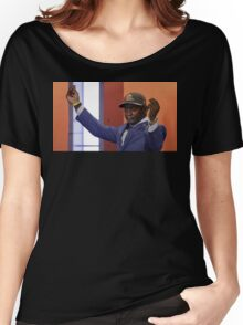 Crying Jordan Johnny Manziel on NFL Draft Day Women's Relaxed Fit T-Shirt