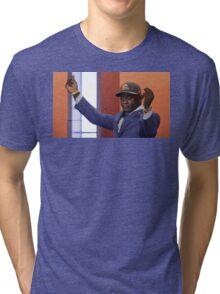 Crying Jordan Johnny Manziel on NFL Draft Day Tri-blend T-Shirt