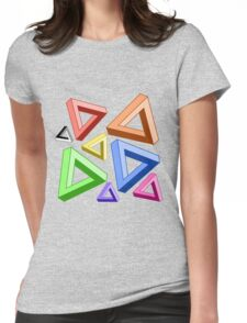 Impossible Triangle Love. Womens Fitted T-Shirt
