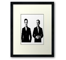 Sherlock Holmes and John Watson - Johnlock Framed Print
