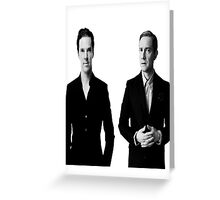 Sherlock Holmes and John Watson - Johnlock Greeting Card