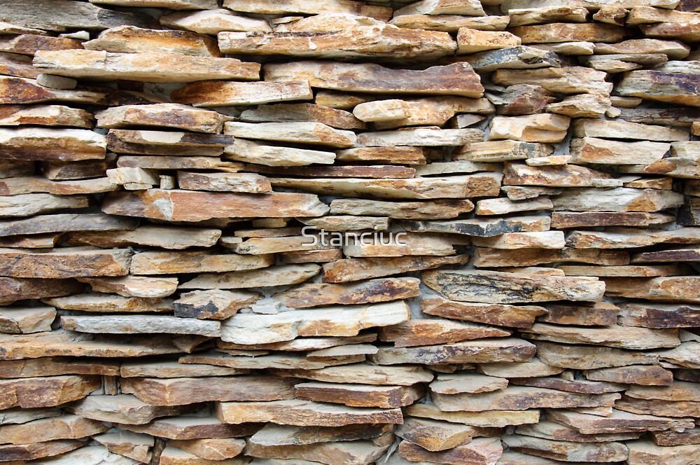 Pattern of decorative stone wall surface by Stanciuc