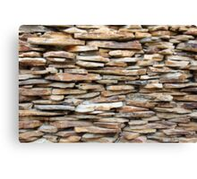 Pattern of decorative stone wall surface Canvas Print