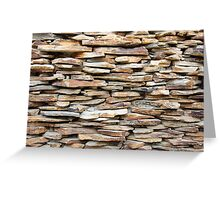 Pattern of decorative stone wall surface Greeting Card
