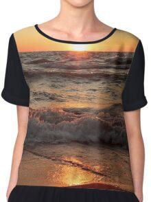 Lake Michigan Sunset II Chiffon Top