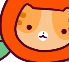Orange Citrus Tabby Cat Face Sticker