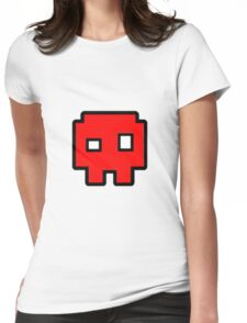 Geometry Dash - Skull Cube Womens Fitted T-Shirt