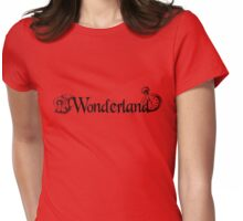 Wonderland - Black Womens Fitted T-Shirt