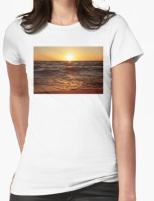 Lake Michigan Sunset Womens Fitted T-Shirt