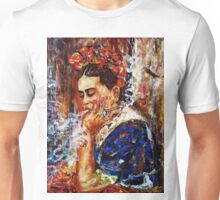 Frida and her thoughts Unisex T-Shirt