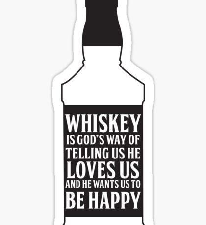 Whiskey Quote Sticker