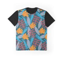 Colorful tropical leaves pattern Graphic T-Shirt