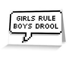 Girls Rule Greeting Card
